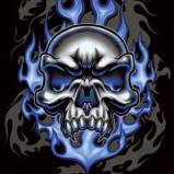 Череп в синем огне
