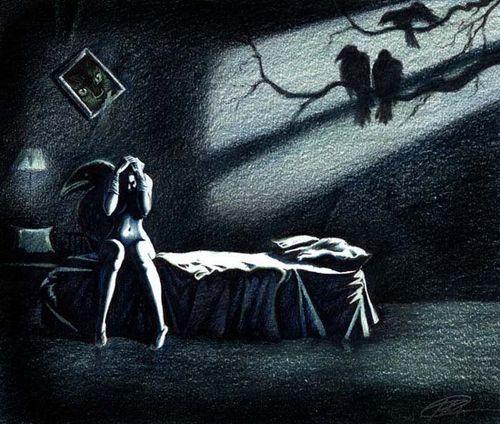 Глазами людей существо ночью приходит заниматься сексом